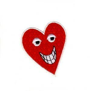 Smiley Heart Face Embroidery Designs:CD010906KA