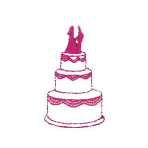 Wedding Cake - Custom Online Embroidery Design