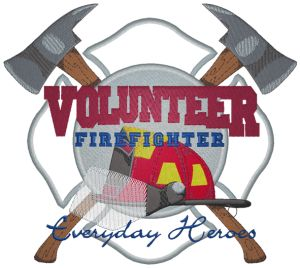 Volunteer Firefighter - Custom Online Embroidery Design