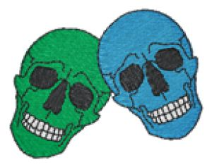 Skulls Embroidery Designs:HY0126