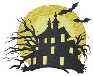Haunted House Embroidery Designs:HY0452