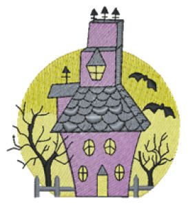 Haunted House Embroidery Designs:HY0561