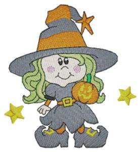 Witch Embroidery Designs:HY0678