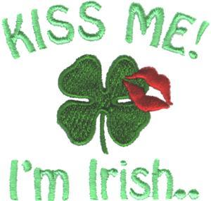 Kiss Me! I'm Irish Embroidery Designs:Irish1