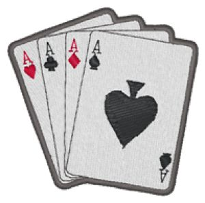 POKER Embroidery Designs:MA0804