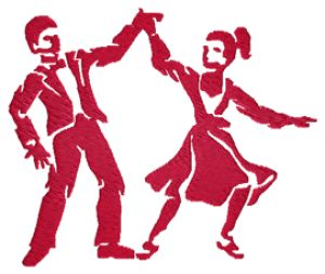 Swing Dancers Embroidery Designs:MI2879