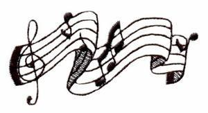 Musical Notes Embroidery Designs:QC437