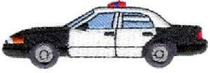 Police Car Embroidery Designs:ES098