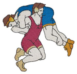 Wrestling Embroidery Designs:SP2111