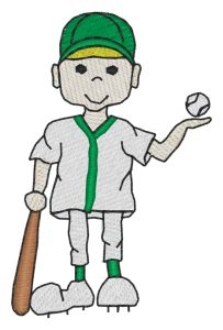 Baseball Boy Embroidery Designs:SP2156