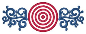 BULLSEYE Embroidery Designs:SP3058