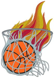 Basketball Hoop Embroidery Designs:SP3722