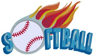 SOFTBALL Embroidery Designs:SP3728