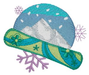 SNOWBOARDING Embroidery Designs:SP3876