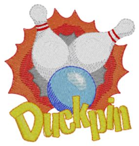 DUCKPIN BOWLING Embroidery Designs:SP3932