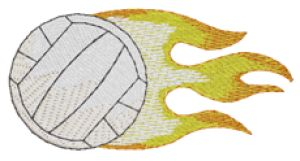 VOLLEYBALL Embroidery Designs:SP4697