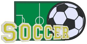 SOCCER FIELD Embroidery Designs:SP4875