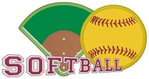 SOFTBALL Embroidery Designs:SP4876