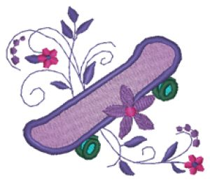 SKATEBOARD Embroidery Designs:SP4936