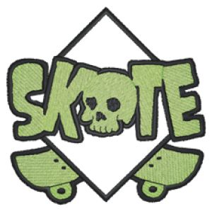 SKATEBOARD Embroidery Designs:SP5646