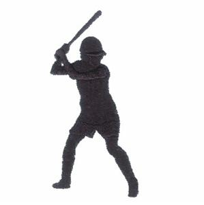 Softball Player Silhouette Embroidery Designs:CD021406TF