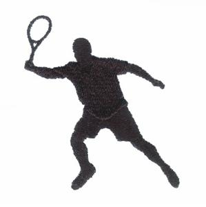 Tennis Player Silhouette Embroidery Designs:CD021406TC
