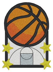 Basketball Embroidery Designs:dak002