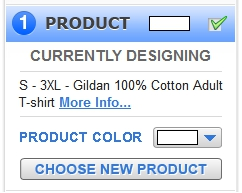 How to Pick a New Product in the Online Designer