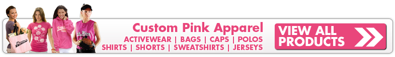 Custom Pink Shirts, Pink Sweatshirts, and Pink Polos