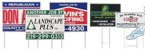 Lawn Business Signs