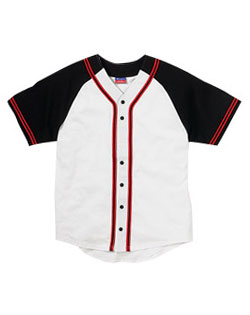 Champion Jersey Raglan Sleeve Button Front With Braid Trim Mens