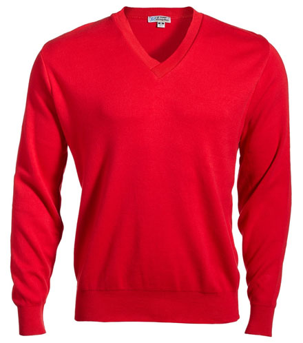 Sweater Pullover V-Neck Mens