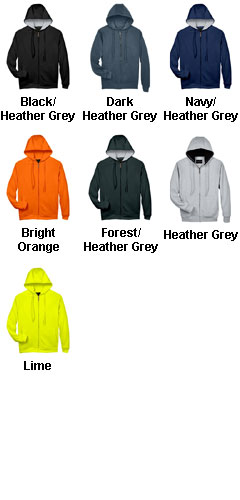UltraClub Rugged Wear Thermal-Lined Full-Zip Jacket - All Colors