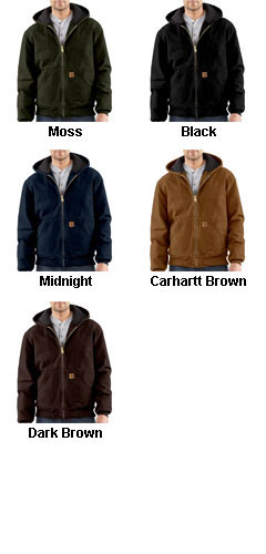 Carhartt Mens Sandstone Active Jacket/Quilted Flannel Lined - All Colors