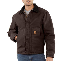 Carhartt Sandstone Traditional Arctic Quilt Lined Jacket - Mens