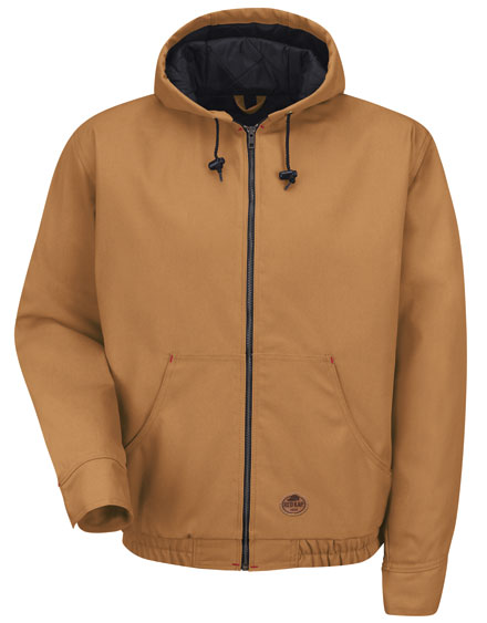 Red Kap Zip Front Hooded Jacket - Mens