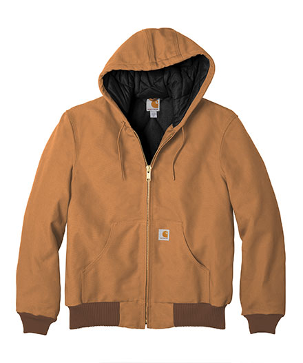 Carhartt Jacket Duck Active With Quilted Flannel Mens