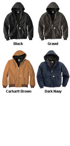 Carhartt Duck Active Jacket with Quilted Flannel - All Colors