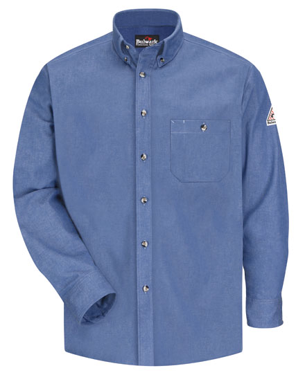 Bulwark Uniform Shirt Button Front Denim Mens