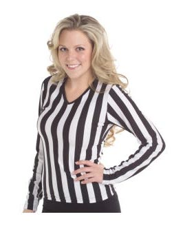Juniors V-Neck Long Sleeve Referee Shirt