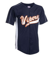 Adult Diamond-Core Full Button Baseball Jersey with Mesh Side Inserts Mens