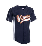 Teamwork Baseball Jersey 1737B Diamond-Core Full Button With Mesh Side Inserts Youth