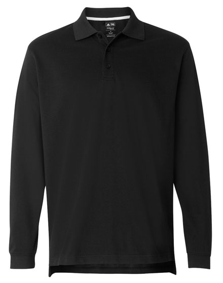 Adidas Polo ClimaLite® Long Sleeve Pique Mens