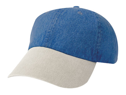 Cap Unconstructed Washed Denim