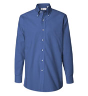 Van Heusen Long Sleeve Wrinkle-resistant Blended Pinpoint Oxford Shirts - Men's
