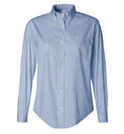 Van Heusen Long Sleeve Wrinkle-resistant Blended Pinpoint Oxford Shirt - Ladies'
