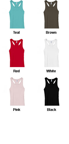 Bella Ladies Sheer Mini Rib  Racer Back Tank - All Colors