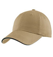 Cap Sandwich Bill With Striped Closure