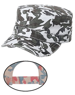Visor Camouflage Superior Garment Washed Twill Distressed Military Style Cap
