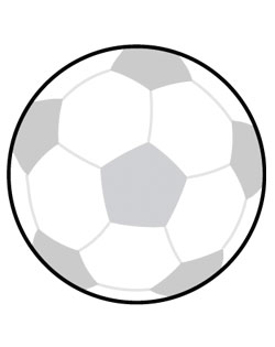 Soccer Ball Sign SportsShape Colorplast